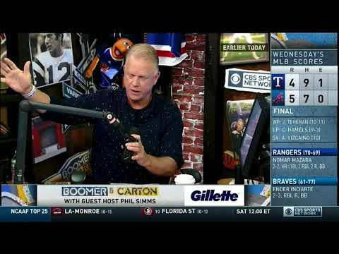 Boomer and Carton - Boomer addresses Craig Carton on today's show 09/07/2017