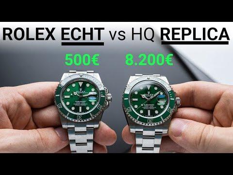 ROLEX SUBMARINER ECHT VS 500€ HIGH END REPLICA - 7 Merkmale Um Eine FALSCHE ROLEX Zu Erkennen!