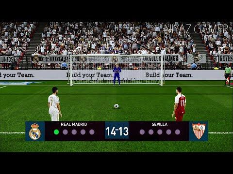 Pes 2020 Real Madrid Vs Sevilla Fc Penalty Shootout Gameplay
