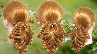 Juda hairstyle for wedding 🌷 How to Do a Perfect Bridal Bun step by step 💕 Hairstyle for party