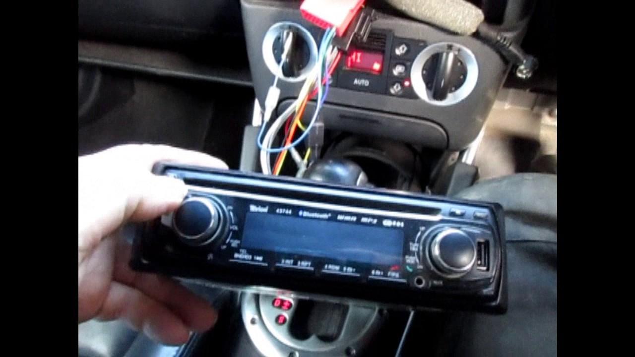 medium resolution of mk 1 audi tt aftermarket radio stereo swap to replace bose concert