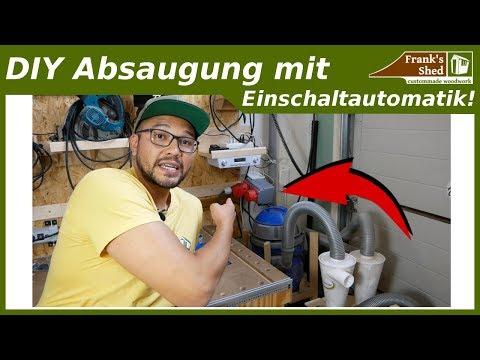 Absauganlage selber bauen mit Einschaltautomatik | Absaugung in der Werkstatt OPTIMIEREN