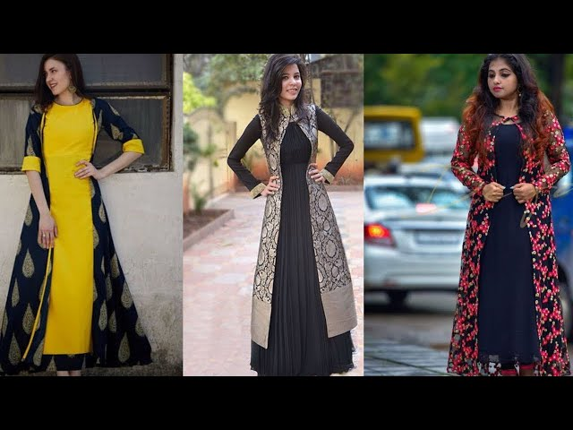 Jacket style dresses || Jacket suits for wedding || floor length jacket dresses