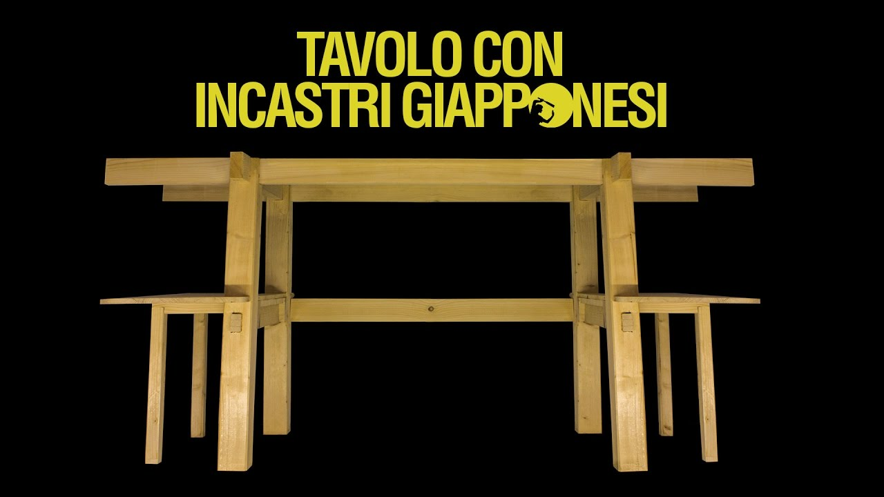 Tavolo in legno con incastri giapponesi fai da te 0x05 youtube - Portacellulare da tavolo fai da te ...