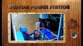 CRAFTING A CUSTOM CAMPER VAN POWER STATION & DESK // Singletrack Sampler Van Build (Ep. 3)