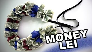 How to make a money lei for graduation with school colors