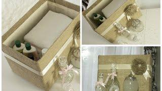 Diy Burlap Covered Storage Box