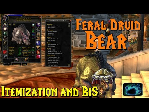 WoW Classic - Feral Druid Bear, Itemization, BiS & Stats Priority (Tanking)