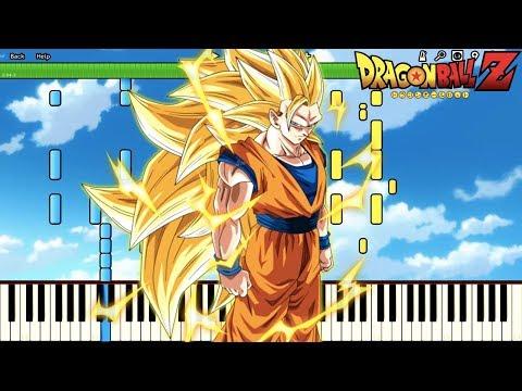 Goku Ascends To SSJ3 ! AHHHHHHHHHHHHHHHHHHHHHHHHHHH!! Dragon Ball Z OST (Piano Tutorial) [Synthesia]