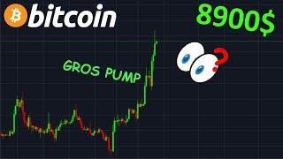 BITCOIN 8900$ DIRECTION FINALE !? btc analyse technique crypto monnaie