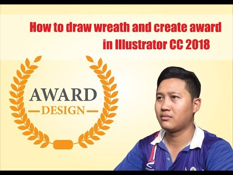 How to draw wreath and create award in Illustrator CC 2018