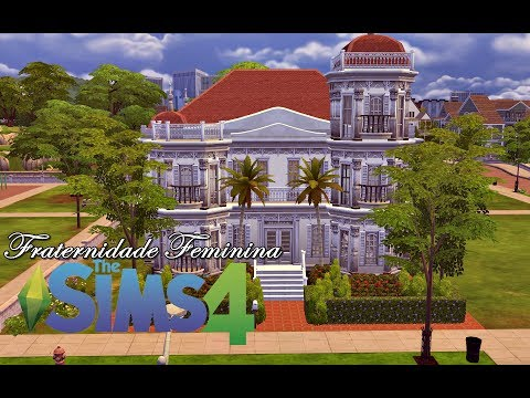 Universidade Sim #3 - Fraternidade Feminina │The Sims 4 (Speed Build)