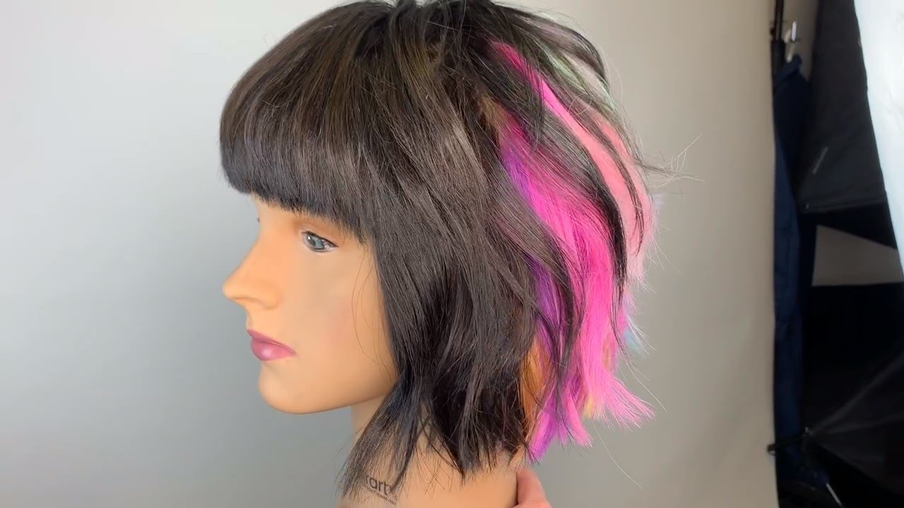 Reverse Out Bangs with Splat Jet Black