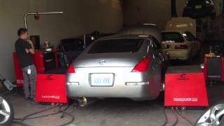06 350z dyno full bolt ons except headers
