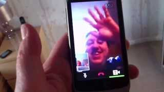 HTC Desire S - Video calling using the face-pointing camera