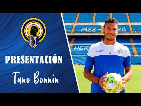 Presentación de Tano Bonnín como nuevo jugador del Hércules