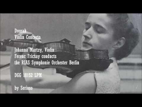 Dvorak, Violin Concerto, Johanna Martzy