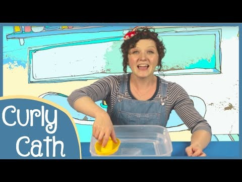 The Big Ship Sails on the Ally Ally Oh | Messy Play Song | Curly Cath