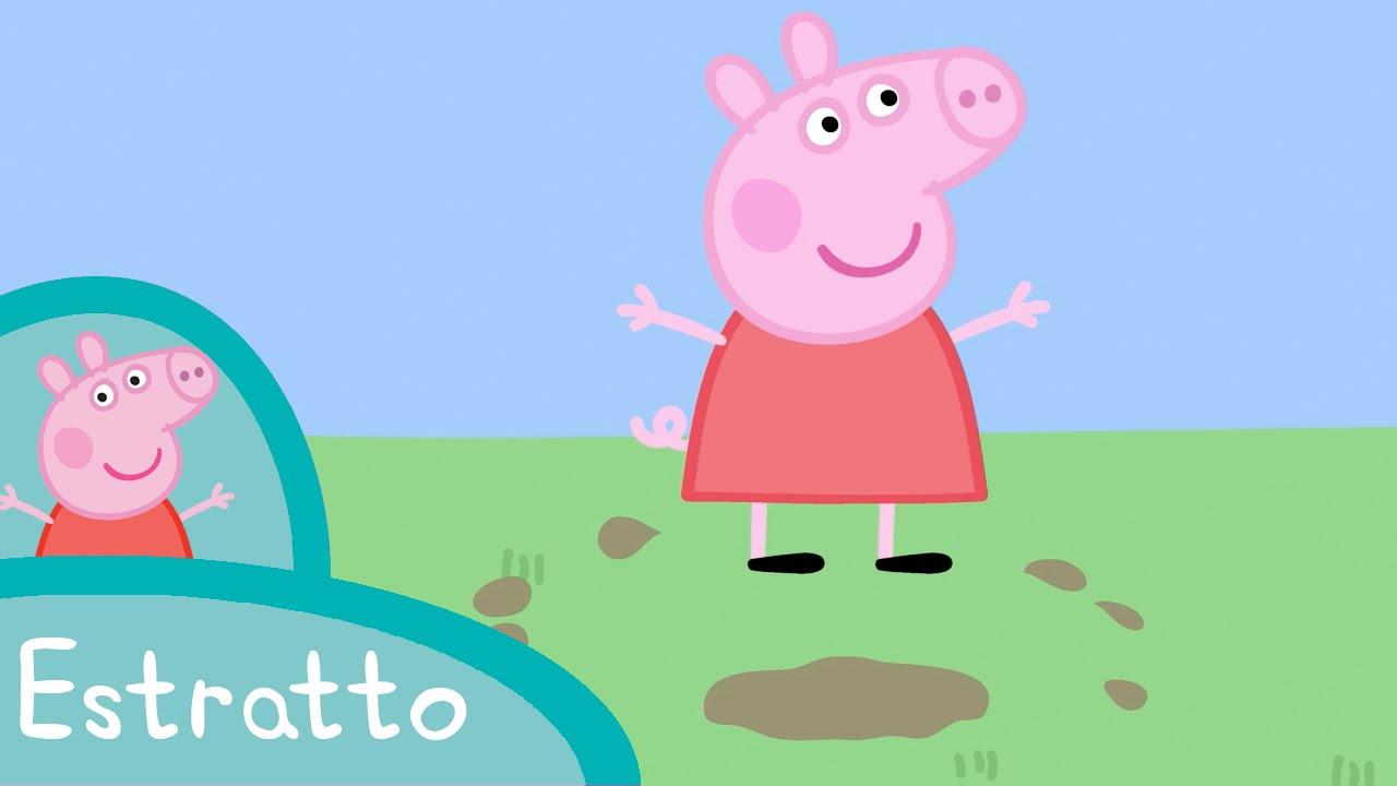 Peppa pozzanghere di fango estratto del video youtube for Disegni della stanza del fango