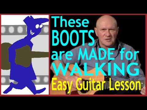 These Boots Are Made For Walking Easy Guitar Lesson Youtube