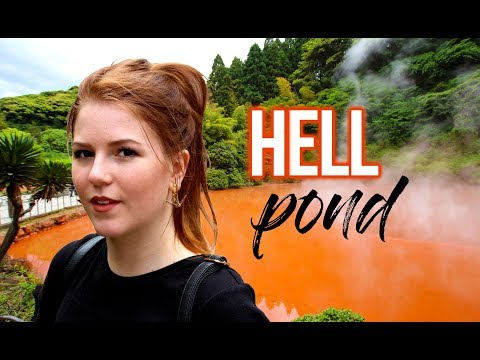 Hells of Beppu | Bloody hell pond onsen (別府)