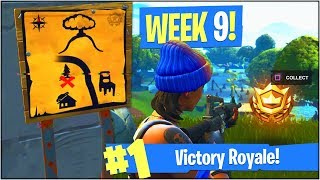 *NEW* WEEK 9 BATTLE PASS CHALLENGES in Fortnite Battle Royale! (Moisty Mire Treasure Map & More!)