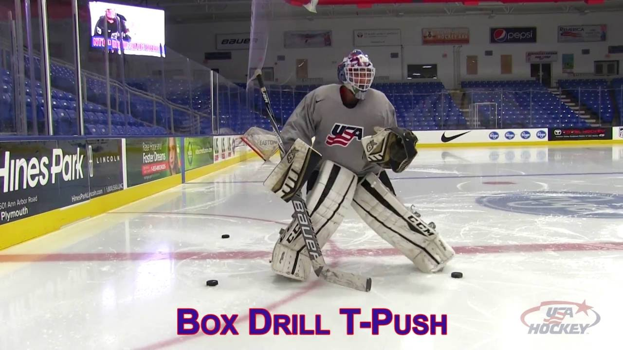 Goaltender Drill Of The Month Box Movement Drill Youtube