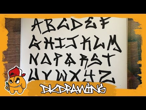 Graffiti Tag Alphabet