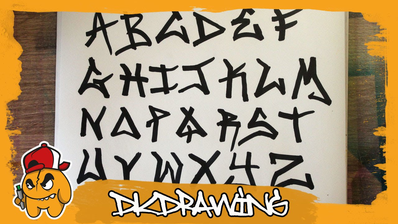 Graffiti Tag Alphabet - Handstyle Tagging #1 - YouTube