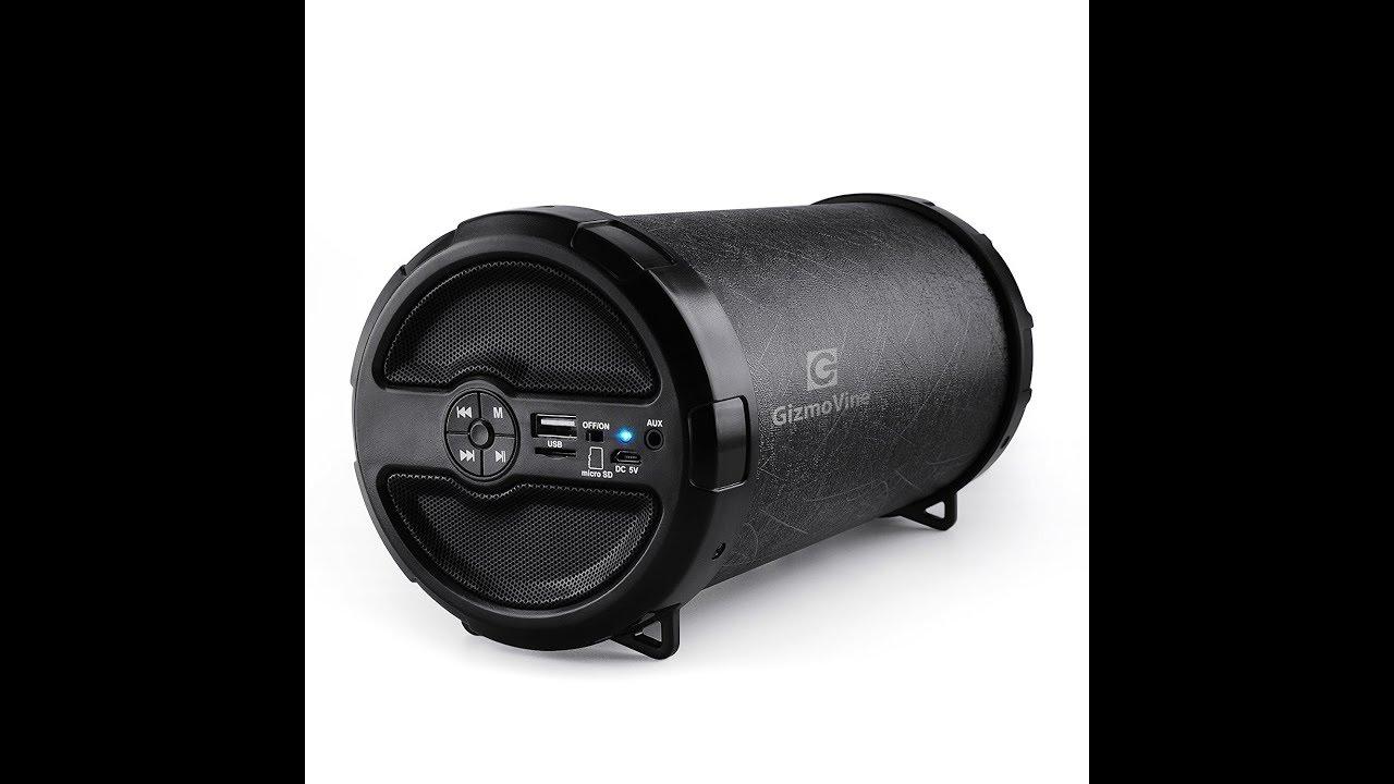 GizmoVine Tube Bluetooth Speaker 11W, IPX5, FM radio