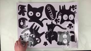 Обзор интерьерной наклейки Веселые котики