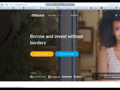 Borrowing Bitcoin-Bitbond Tutotrial & Review or how i got my funds for investing