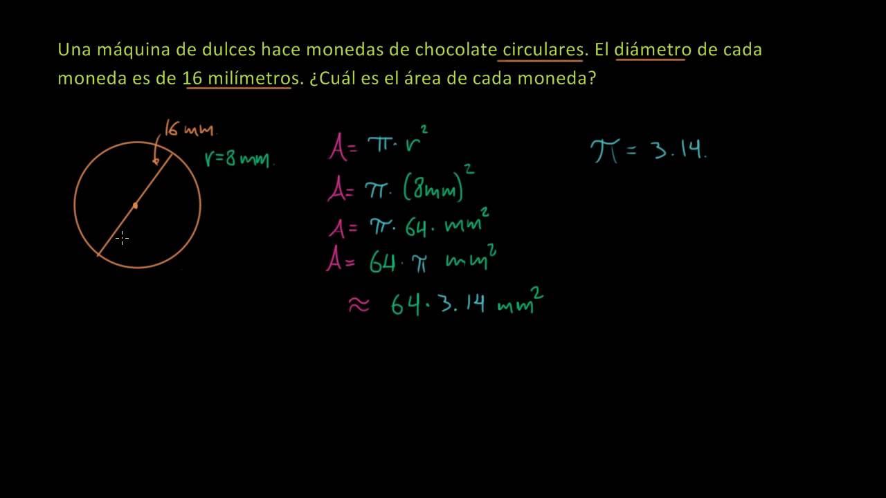 El área De Un Círculo Es Pi Multiplicado Por El Radio Al Cuadrado A π R Aprende Cómo Utilizar Esta Fórmula Para Cal Calcular El Area Circulo Khan Academy