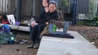 Homeless Lesbian Couple Abuse and Break Up on Valentine's Day