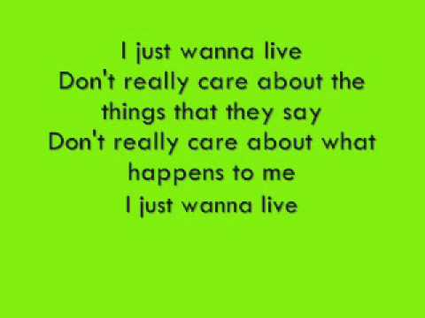 Good Charlotte i just wanna live lyrics