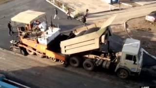 Repair of roads, asphalting /// Ремонт дороги, укладка асфальта