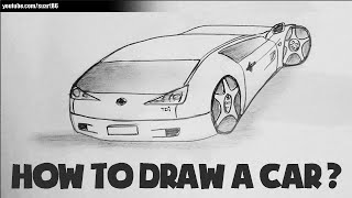 How to draw a car from the back