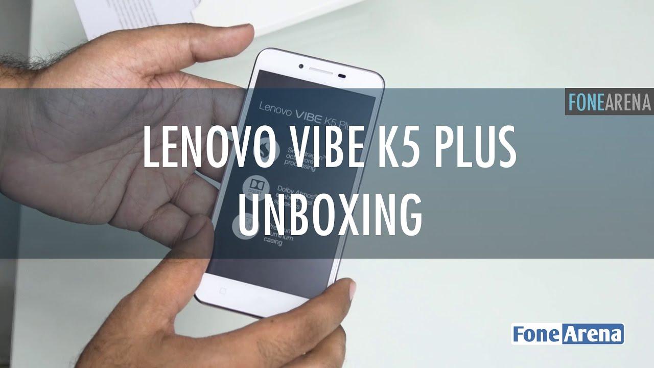 Lenovo Vibe K5 Plus - Unpacking