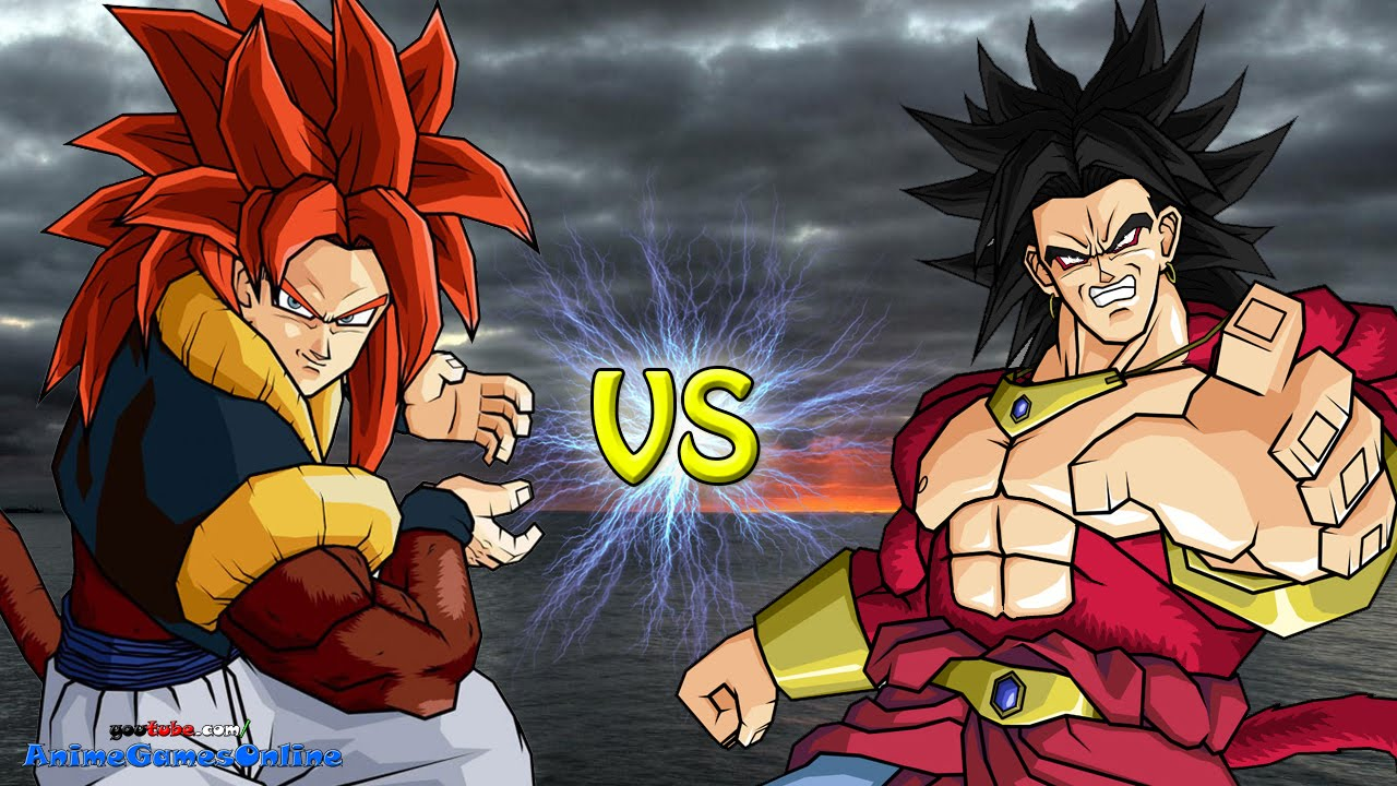 Super Saiyan 4 Broly vs Super Saiyan 4 Gogeta - Road to ...