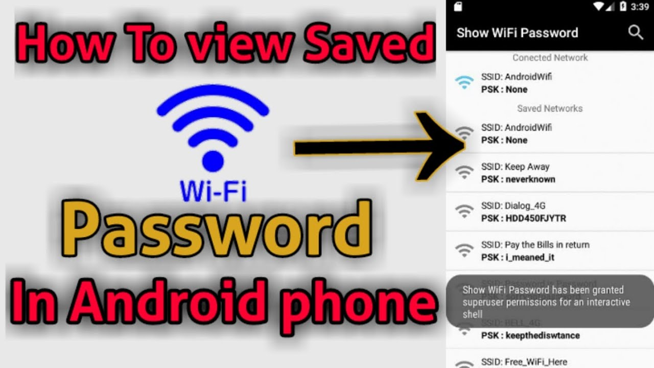 Download How to View WiFi Passwords on Android Mobile Without Root  ? wifi password pata kare