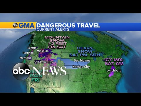 Record cold and snow heading into weekend travel