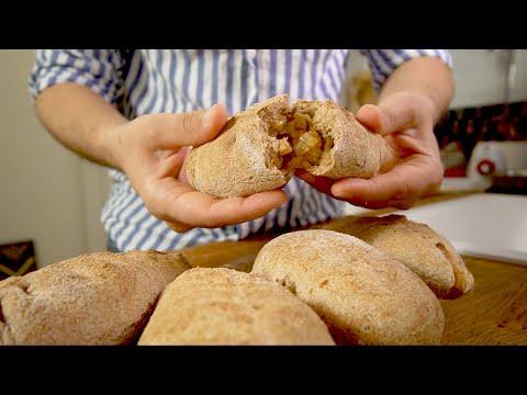 Пирожки с капустой, запеченные без масла и из цельнозерновой муки