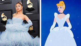 Celebrities channeling their inner Disney princess #shorts
