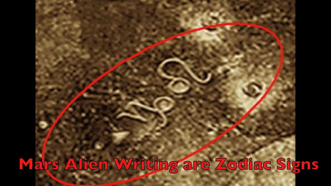 Real Alien Symbols Alien Writing On Surfa...