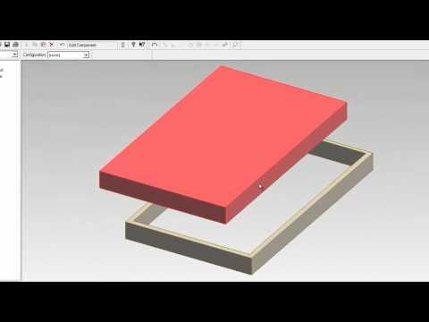บทที่ 3 การสร้างชิ้นงานลักษณะบานพับ (บานประตู)  ด้วยโปรแกรม ProDesktop (8/12)