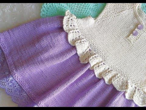 МК .Платье спицами для девочки