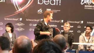 "Eurovision Song Contest 2011 Russian entrant Alex Sparrow sings ""Kalinka"""