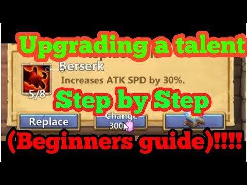 Castle Clash Upgrading A Talent Part 2  Step By Step