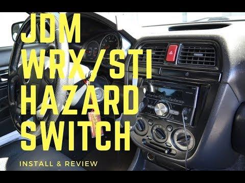 02-07 WRX/STi Red JDM Hazard Switch Install & Review