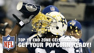 #2 Terrell Owens: Get Your Popcorn Ready!  | Top 10 End Zone Celebrations | NFL
